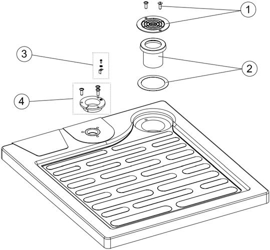 Plato de ducha relax piezas de recambio piezas for Piezas ducha