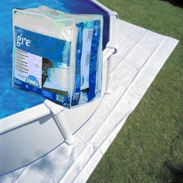Manta protectora de fondos para piscina ovelada gre for Protector para piscina