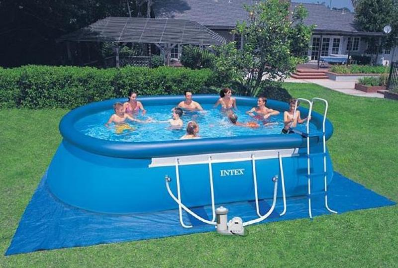 Piscina autoportante intex ellipse intex for Piscina autoportante