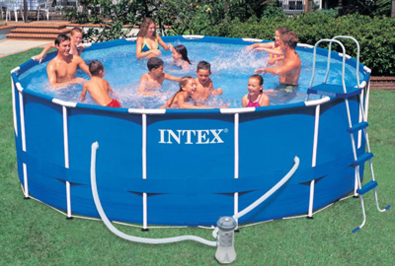 Piscinas intex tubulares intex for Piscinas rectangulares intex